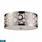 ELK Retrovia 3-Light Flush Mount in Polished Nickel - Led EK-31024-3-LED