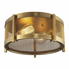 ELK Rialto Collection 2 Light Flush Mount in Aged Brass EK-31481-2