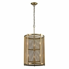 ELK Rialto Collection 3+3 Light Pendant in Aged Brass EK-31484-3-3