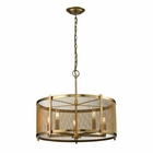 ELK Rialto Collection 5 Light Pendant in Aged Brass EK-31483-5