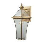 ELK Riverdale 1 Light Outdoor Sconce in Brushed Brass EK-22031-1
