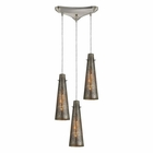 ELK Rury 3 Light Pendant in Satin Nickel EK-10247-3