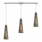 ELK Rury 3 Light Pendant in Satin Nickel EK-10247-3L