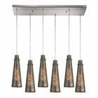 ELK Rury 6 Light Pendant in Satin Nickel EK-10247-6RC