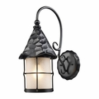 ELK Rustica 1-Light Outdoor Sconce in Matte Black With Scavo Glass EK-385-BK
