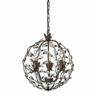 ELK Sagemore 3 Light Pendant in Bronze Rust EK-18144-3