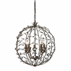 ELK Sagemore 5 Light Pendant in Bronze Rust EK-18145-5