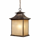 ELK San Gabriel 1-Light Outdoor Pendant in Hazelnut Bronze EK-42183-1