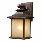 ELK San Gabriel 1-Light Outdoor Sconce in Hazelnut Bronze EK-42180-1