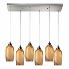 ELK Sandstone 6 Light Pendant in Satin Nickel EK-31137-6RC