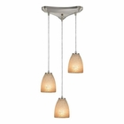 ELK Sandstorm 3 Light Pendant in Satin Nickel EK-10476-3