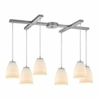 ELK Sandstorm 6 Light Pendant in Satin Nickel EK-10466-6