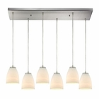ELK Sandstorm 6 Light Pendant in Satin Nickel EK-10466-6RC