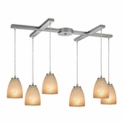 ELK Sandstorm 6 Light Pendant in Satin Nickel EK-10476-6