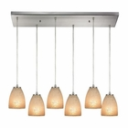 ELK Sandstorm 6 Light Pendant in Satin Nickel EK-10476-6RC