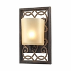 ELK Santa Monica 1 Light Vanity in Weatbered Bronze/Gold Highlights EK-31436-1