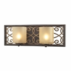 ELK Santa Monica 2 Light Vanity in Weatbered Bronze/Gold Highlights EK-31437-2