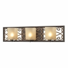 ELK Santa Monica 3 Light Vanity in Weatbered Bronze/Gold Highlights EK-31438-3
