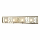ELK Santa Monica 4 Light Vanity in Aged Silver EK-31429-4
