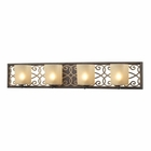 ELK Santa Monica 4 Light Vanity in Weatbered Bronze/Gold Highlights EK-31439-4