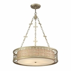 ELK Santa Monica 5 Light Pendant in Aged Silver EK-31524-5