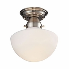 ELK Schoolhouse Flushes 1 Light Semi Flush in Satin Nickel EK-69044-1