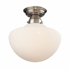ELK Schoolhouse Flushes 1 Light Semi Flush in Satin Nickel EK-69045-1