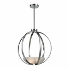 ELK Sculptive 3 Light Pendant in Polished Chrome EK-11763-3