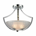 ELK Sculptive 3 Light Semi Flush in Polished Chrome EK-11761-3