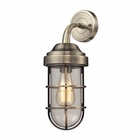 ELK Seaport 1 Light Sconce in Antique Brass EK-66375-1