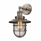 ELK Seaport 1 Light Sconce in Antique Brass EK-66376-1