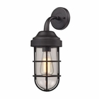 ELK Seaport 1 Light Sconce in Oil Rubbed Bronze EK-66365-1