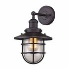 ELK Seaport 1 Light Sconce in Oil Rubbed Bronze EK-66366-1