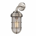 ELK Seaport 1 Light Sconce in Satin Nickel EK-66355-1