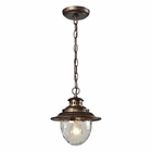 ELK Searsport 1 Light Outdoor Pendant in Regal Bronze EK-45031-1