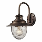ELK Searsport 1 Light Outdoor Sconce in Regal Bronze EK-45030-1