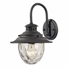 ELK Searsport 1 Light Outdoor Sconce in Weathered Charcoal EK-45040-1