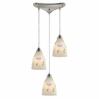ELK Seashore 3-Light Pendant in Satin Nickel EK-20000-3