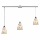 ELK Seashore 3-Light Pendant in Satin Nickel EK-20000-3L