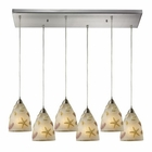 ELK Seashore 6 Light Pendant in Satin Nickel EK-20000-6RC