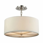 ELK Selma 3 Light Pendant in Polished Nickel EK-31650-3