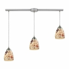 ELK Shells 3 Light Pendant in Satin Nickel EK-10412-3L
