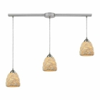 ELK Shells 3 Light Pendant in Satin Nickel EK-10414-3L