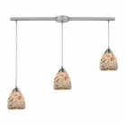 ELK Shells 3 Light Pendant in Satin Nickel EK-10415-3L