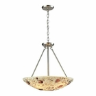 ELK Shells 4 Light Pendant in Satin Nickel EK-10413-4