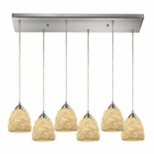 ELK Shells 6 Light Pendant in Satin Nickel EK-10414-6RC