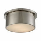 ELK Simpson 2 Light Flushmount in Brushed Nickel EK-11820-2
