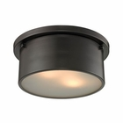 ELK Simpson 2 Light Flushmount in Oil Rubbed Bronze EK-11810-2