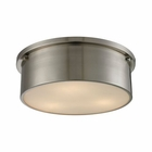 ELK Simpson 3 Light Flushmount in Brushed Nickel EK-11821-3