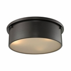 ELK Simpson 3 Light Flushmount in Oil Rubbed Bronze EK-11811-3